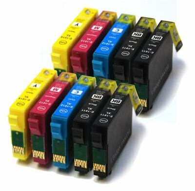 10 XL Cartuchos De Tinta Para Epson Workforce WF-2520NF WF-2630WF WF-2750DWF