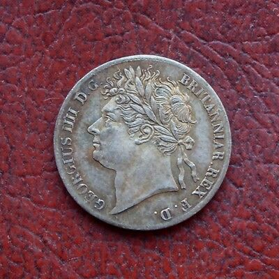 George IV 1827 silver maundy fourpence