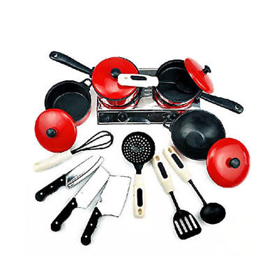13pcs Play Kitchen Toys Childrens Play Role Toy Kitchen Accessories Set Mini