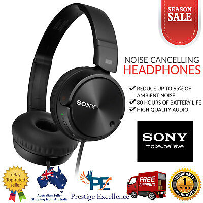 Sony Noise Cancelling Headphones Foldable Stereo High Quality Headset MDRZX110NC