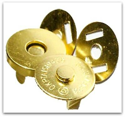 10 Set  Magnetic Bag Clasps Fasteners  GOLD 18mm  UK SELLER