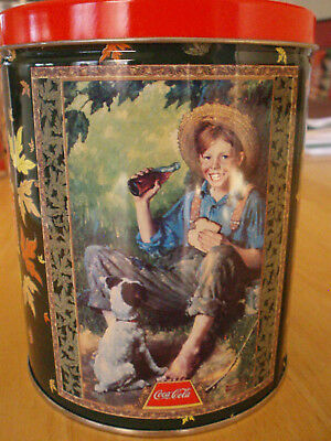 Coca-Cola: Tin and Jigsaw Puzzle - Theme: Vintage Ad featuring Huck Finn & Dog