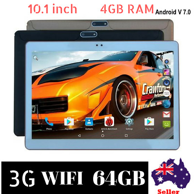 2018 Latest version Android Tablet 10.1inch 4GB RAM 64GB ROM  Dual Cameras black