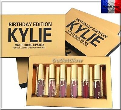Kylie Jenner Birthday Edition Lipstick Mat 6 Couleurs Rouge A Levres Gloss
