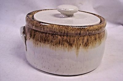 Mccoy Pottery Graystone Covered Casserole Vintage Crock 1421 Milk Jug Handles