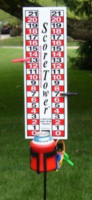 ScoreTower - Scoreboard & Drinkholder for Bocce Ball