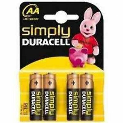 Simply Duracell Base MN1500 - Pack of 4x AA Batteries