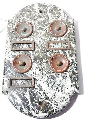 Art Deco French Marble Door bell with Brass Push Buttons