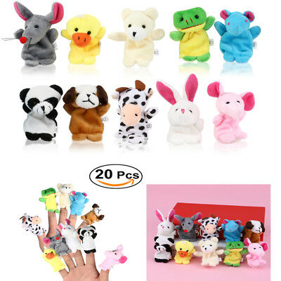20Pack Cute Family Finger Puppets Cloth Doll Baby Educational Hand Animal Toy