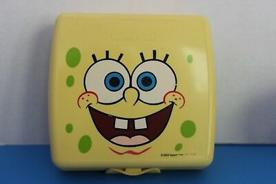 Tupperware Square SANDWICH KEEPER~SpongeBob~Eco friendly~One-Piece Hinged Design