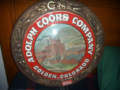Vintage 1970's Coors Beer Company Building Round Wall Sign Bar Man Cave Rare 18""