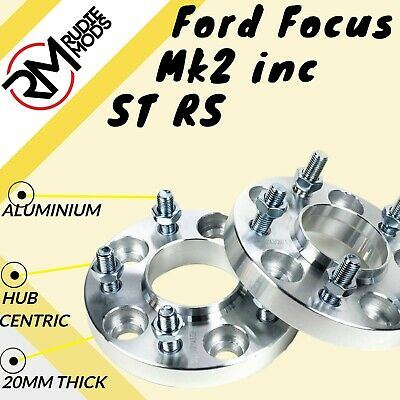 Ford Focus Mk2 inc ST RS 5x108 20mm Hubcentric wheel spacers 1 pair