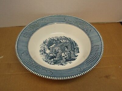 """Royal China Currier & Ives 9 1/4"""" Round Vegetable Serving Bowl – Maple Sugaring"""