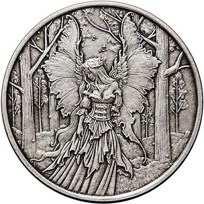 Amy Brown Collection - Lady Of The Forest 1 oz .999 Silver Antiqued Round Coin
