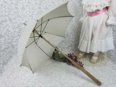 True Antique Child's / Doll Umbrella / Parasol -VTG Early 1900  Intact, Works