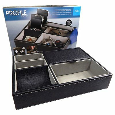 JEWELRY ORGANIZER Valet Tray Box Holder Compartment Wallet Phone