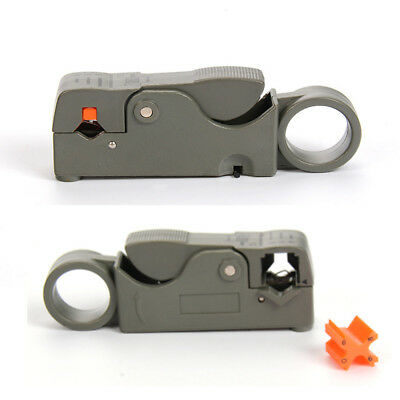 Cable Stripper For RG59 RG6 RG11 Coaxial Wire Coax Stripping Tool Universal