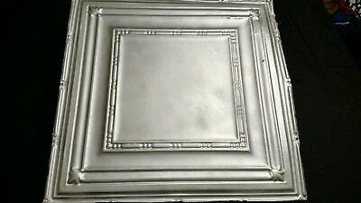 "Antique Victorian Tin Ceiling Tile 1876 (24"" x 24"") vintage"