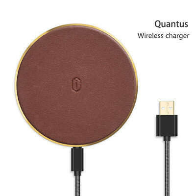 WiWU Quantus Wireless Charger for Devices with Qi Technology in Brown, QC100BR