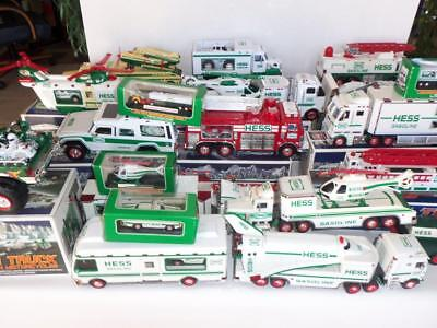 35+ Pieces Hess Gasoline Toy Truck Collection 1995-2009
