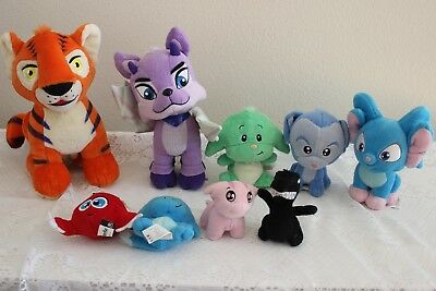 Lot Of 9 Neopets Talking / Light Up Plush