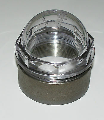 """Sight glass MZ RIV 3"""" Dome shape with weld on ring for Slurry Tanker"""