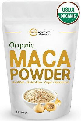 Premium Pure Organic Maca Powder 1 Pound Non-GMO Enhanced Bioavailability