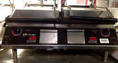 "Star Pro-max Pannini sandwich grill press 31"" grooved cast iron commercial"