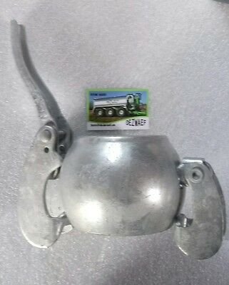 """4"""" inch Bauer male end cap blank stop for coupler slurry tanker galvanised"""