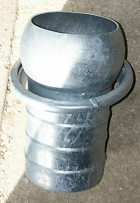 """8"""" Italian male coupling hose tail end piece slurry tanker galvanised"""