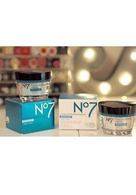 No7 Protect And Perfect Intense Advanced, Day And Night Creams, 50Ml Cube.