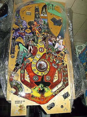 Wizard Of Oz Pinball Playfield  Signed By Jersey Jack NOS New