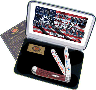 Case Star Spangled Banner Commemorative Trapper Knife with Clip & Spay Blade