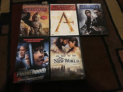 Lot Of 5 Collin Farrell Movies, Dvds