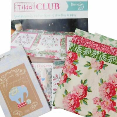 Tilda Club DECEMBER 2017 Quilting Sewing Fabric Single Issue Patchwork Craft ...