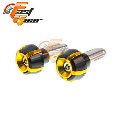 Spoke CNC Gold Bar Ends Sliders Set Fit Yamaha YZF R6 2006-2014