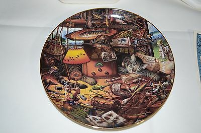 "1998 Bradford Exchange Purr-Fect Places Cat Plate ""max In The Adirondacks"""