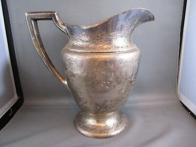 ANTIQUE ALVIN STERLING SILVER 4 PINT WATER PITCHER M499..29 troy ounces