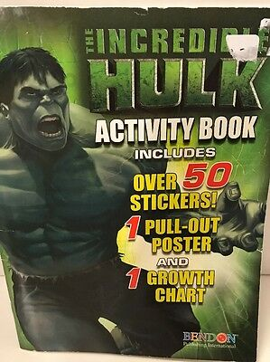 Incredible Hulk Children's Activity & Coloring Book Includes Stickers