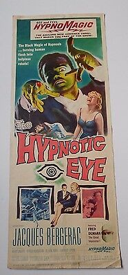 original 1956 no place to hide 14x36 insert movie poster