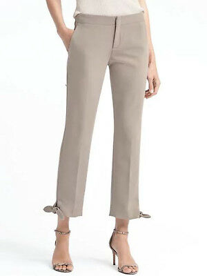 Banana Republic $98 Avery Ankle-Fit Tie Hem Pant 0P,2P,4P,4,6P,6,8P,10P,10,12,14