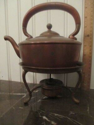 c1880s Gorham Copper Teapot Kettle on Stand Arts & Crafts