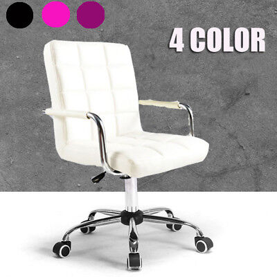 New Adjustable High-Back Swivel Computer Executive Office Desk Chair PU Leather