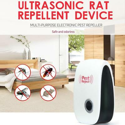 AU Electronic Ultrasonic Anti Pest Bug Mosquito Cockroach Mouse Killer Repeller