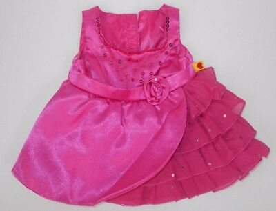 Build a Bear Pink Sequins Dress with Ruffles for Plush Stuffed Animal BABW