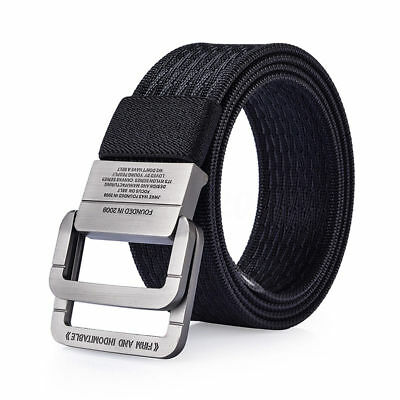 "47"" Double Alloy Buckle Canvas Belt Nylon Military Belt Army Tactical Belts New"