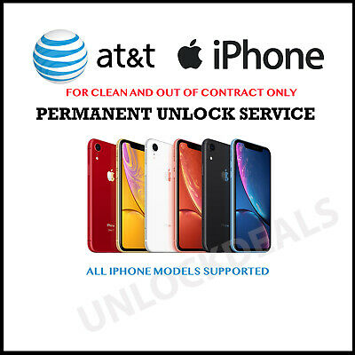 AT&T Unlock Service for iPhone 6 6+ 6s SE 7 7+ 8 8+ X XR XS XS Max 11 Pro Max