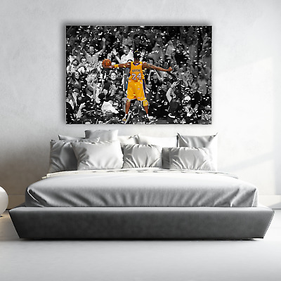 Poster Mural Kobe Bryant Lakers Basketball | Choose Your Size | Canvas