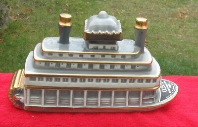OBR 1968 Vintage Kentucky Whiskey Decanter Mississippi River Queen Paddle Boat
