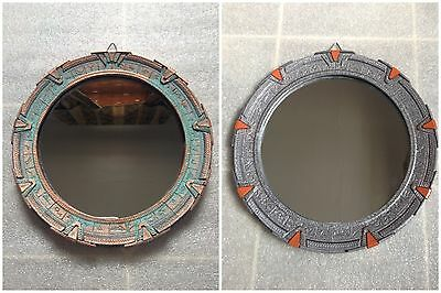 "Medium Stargate Mirror. SG1 - Patina or Silver. 7-3/4"" (19.7cm)"